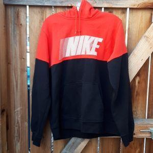 Nike hoodie sweatshirt large red black